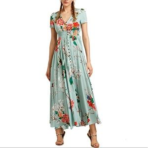 Dresses & Skirts - Button Up Floral Flowy Maxi Dress